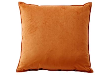 Set van 2 velvet kussenhoezen   Heerlijk zachte kussenslopen - In 13 kleuren Oranje
