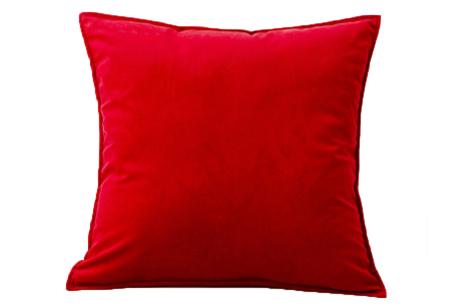Set van 2 velvet kussenhoezen   Heerlijk zachte kussenslopen - In 13 kleuren Rood