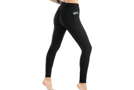 Push-up sportlegging | Dames legging met corrigerend en liftend effect - in 6 kleuren Zwart