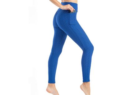 Push-up sportlegging | Dames legging met corrigerend en liftend effect - in 6 kleuren Blauw