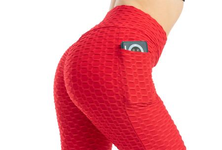 Push-up sportlegging | Dames legging met corrigerend en liftend effect - in 6 kleuren