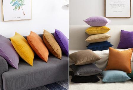 Set van 2 velvet kussenhoezen   Heerlijk zachte kussenslopen - In 13 kleuren