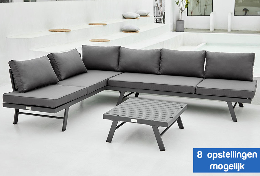 Aluminium loungeset Modica nu in de aanbieding