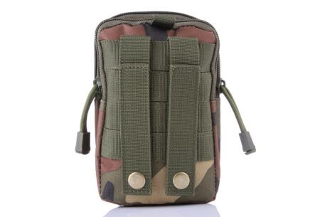Survival riemtasje   Handig heuptasje voor heren en dames Legerprint groen
