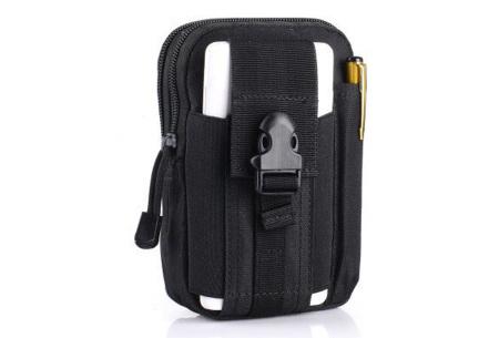 Survival riemtasje   Handig heuptasje voor heren en dames Zwart