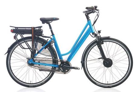 Shimano Nexus 7 elektrische fiets Maat 51 cm - Azuurblauw metallic
