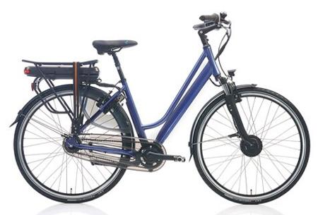 Shimano Nexus 7 elektrische fiets Maat 51 cm - Grijs/lila metallic