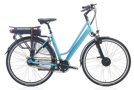 Shimano Nexus 7 elektrische fiets | 28 inch dames & heren e-bike Lichtblauw mat