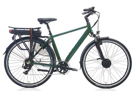 Shimano Nexus 7 elektrische fiets | 28 inch dames & heren e-bike Groen metallic