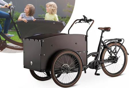 Elektrische bakfiets | Comfortabele en stabiele bakfiets met 4 zitplaatsen!