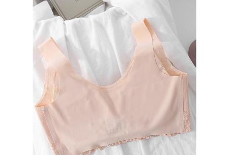 Naadloze bh | Comfortabele kanten bh zonder beugel - in 6 kleuren