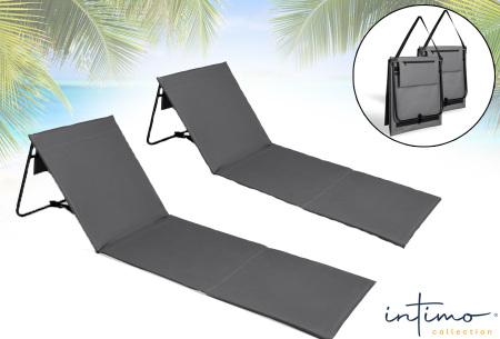 Set van 2 vouwbare ligbedden | Comfortabel & handig strandbed