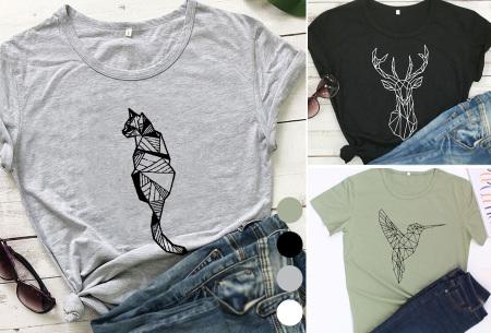Geometric T-shirt | Dames shirts met verschillende gave prints