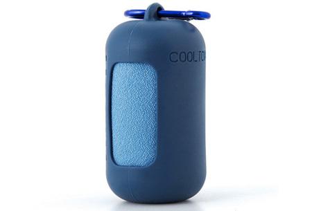 Verkoelende handdoek   Compacte sporthanddoek in koker Donkerblauw