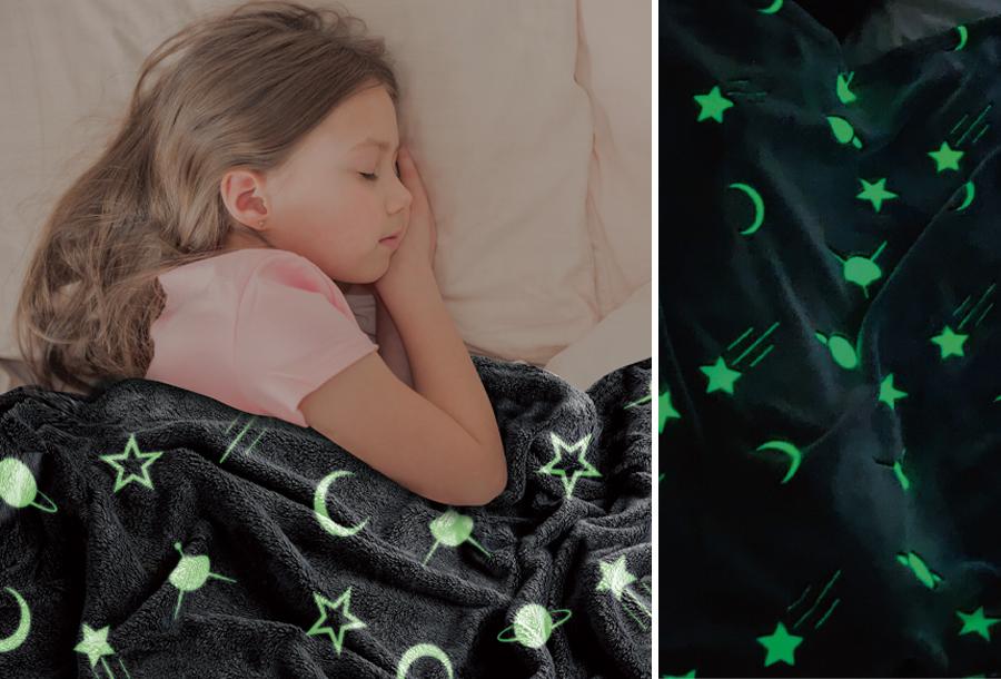Glow in the dark deken - nu extra goedkoop!