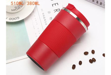 Thermosbeker | Rvs koffiebeker in twee formaten! Rood