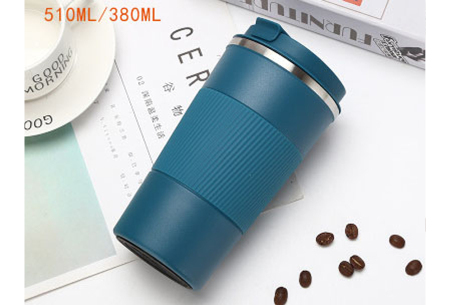 Thermosbeker | Rvs koffiebeker in twee formaten! Blauw