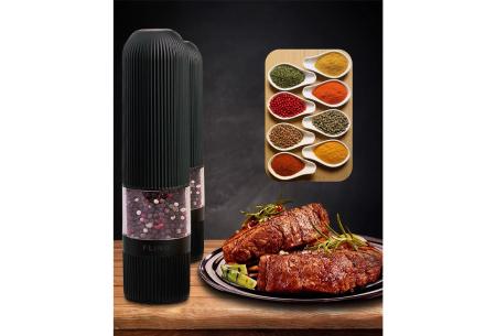 FlinQ elektrische peper- en zoutmolen | Geschikt voor diverse soorten kruiden