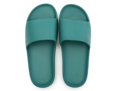 Cosy badslippers voor dames en heren   Ultracomfortabele slippers Groen