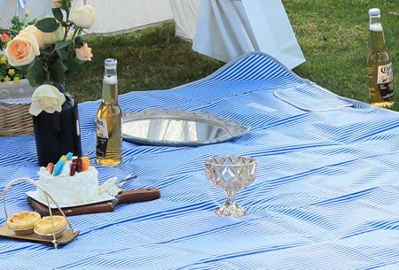Opvouwbaar buitenkleed | Ideaal als picknickkleed of strandmat! Blauw