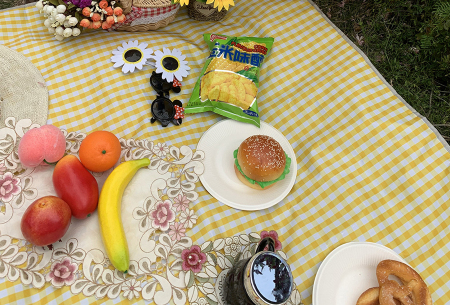 Opvouwbaar buitenkleed | Ideaal als picknickkleed of strandmat! Geel