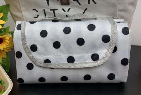 Opvouwbaar buitenkleed | Ideaal als picknickkleed of strandmat! Stippen