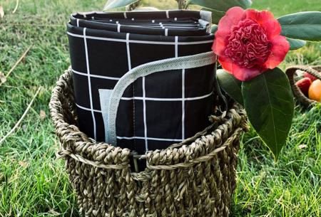 Opvouwbaar buitenkleed | Ideaal als picknickkleed of strandmat! Zwart
