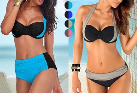 Halter push-up bikini | Met high of low waist broekje