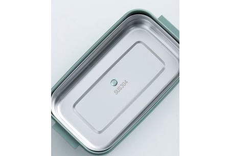 Multifunctionele lunchbox   Lunchtrommel met bestek - in 3 kleuren