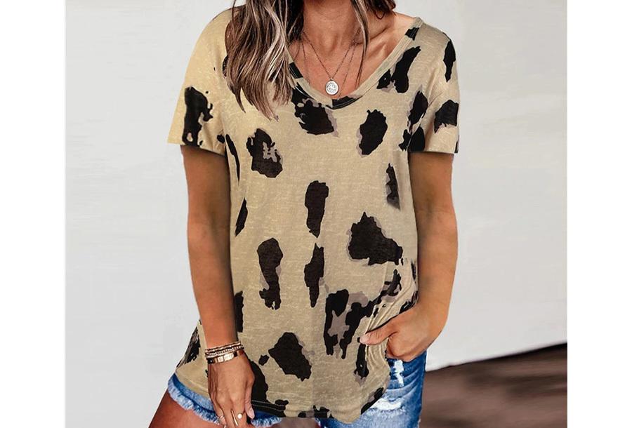 Leopard shirt - Maat L - Khaki