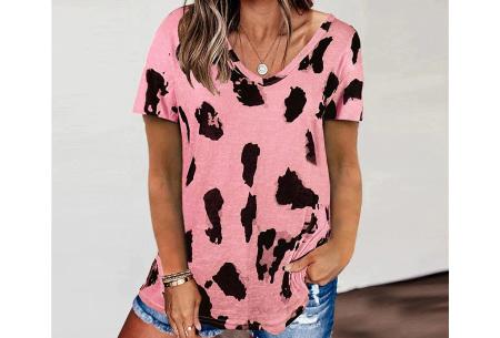 Leopard shirt   Dames T-shirt met korte mouwen Roze