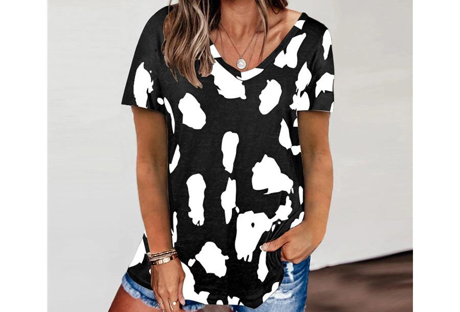 Leopard shirt - Maat XL - Zwart