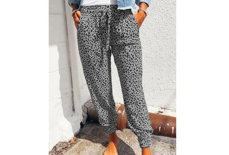 Comfy Leopard broek   Luchtige damesbroek - in 4 kleuren  Grijs