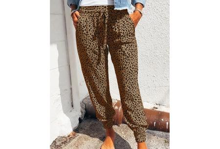 Comfy Leopard broek   Luchtige damesbroek - in 4 kleuren  Bruin