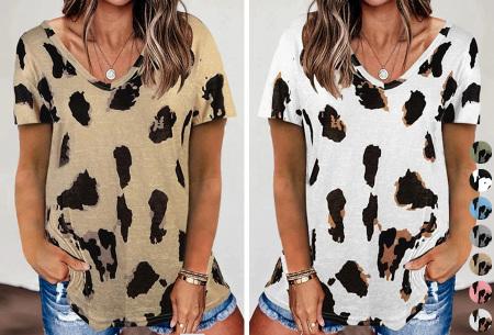 Leopard shirt   Dames T-shirt met korte mouwen