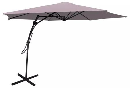 XXL zweefparasol, parasolhoes en/of -tegels   Extra grote parasol en accessoires van Feel Furniture Taupe