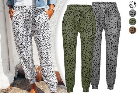 Comfy Leopard broek   Luchtige damesbroek - in 4 kleuren