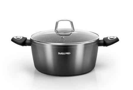 10-delige pannenset van Swiss Pro+   Incl. koekenpan, braadpan & meer