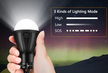 Campinglamp | Draagbare ledlamp op batterijen