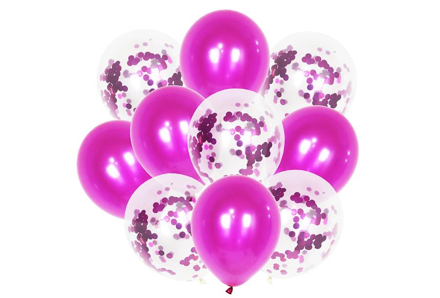 Ballonnen 2 x ballonnen - fuchsia