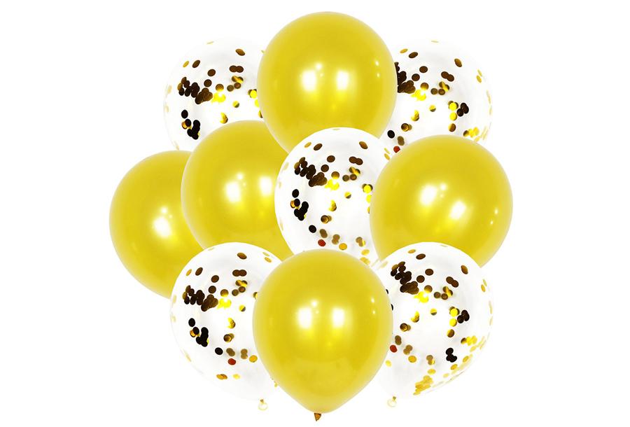 Ballonnen 2 x ballonnen - goudkleurig
