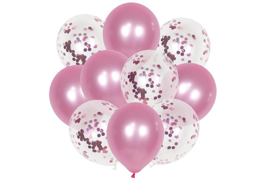 Ballonnen 3 x ballonnen - lichtroze