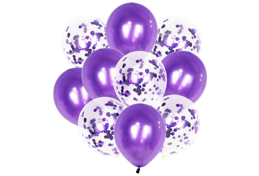 Ballonnen 2 x ballonnen - paars