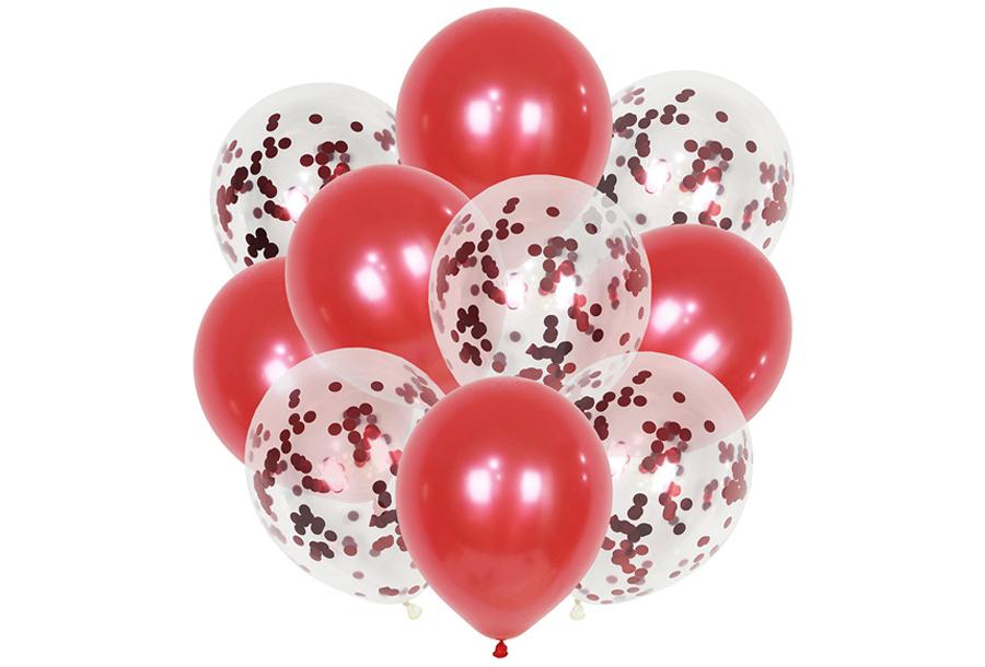 Ballonnen 3 x ballonnen - rood