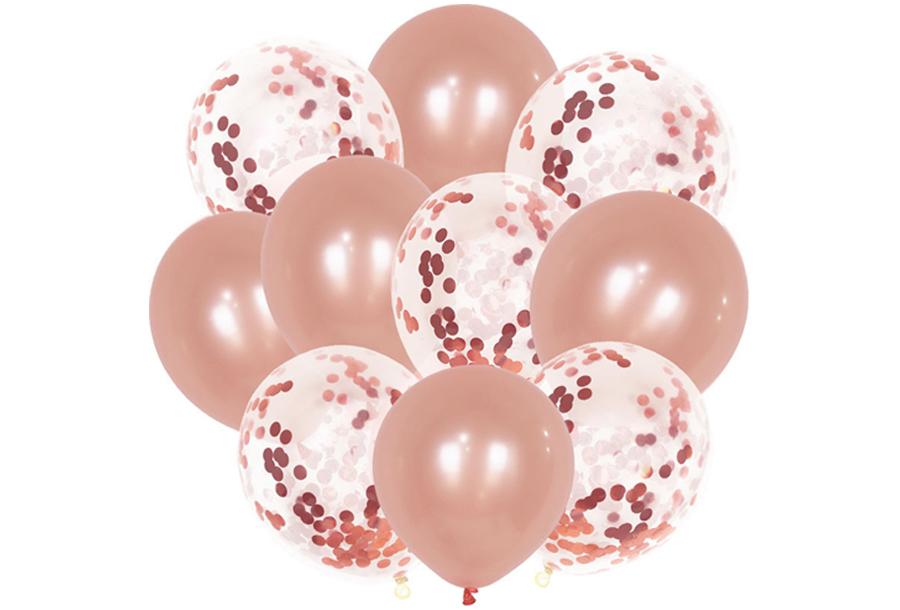 Ballonnen 10 stuks - Roségoudkleurig 1
