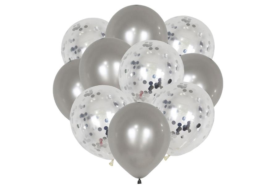 Ballonnen 2 x ballonnen - zilverkleurig