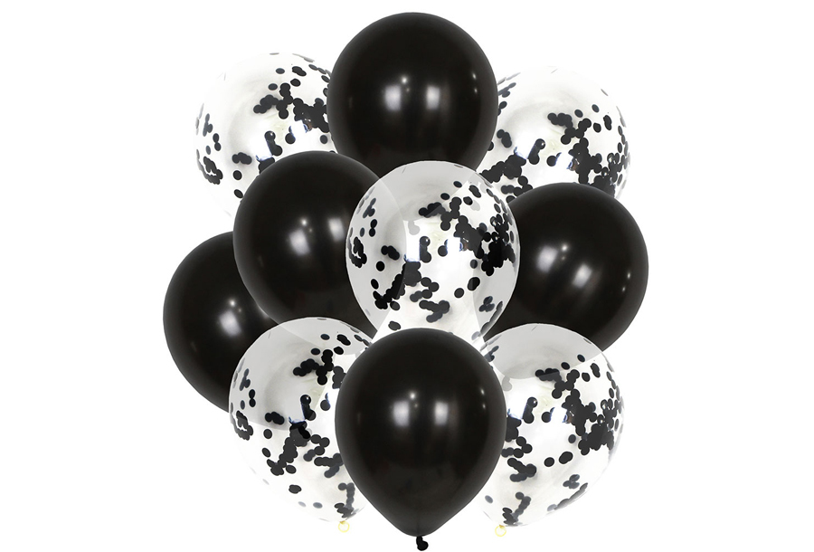 Ballonnen 10 stuks - Zwart