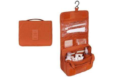 Uitvouwbare toilettas | Ideaal voor thuis of op reis - voor dames & heren Oranje