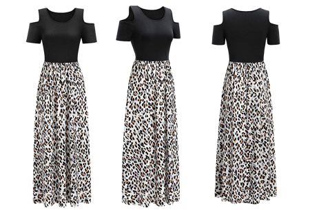 Cold shoulder maxi jurk | Casual zomerjurk - in 10 varianten