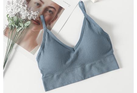 Comfy ondergoed   String en/of bh in 7 kleuren!  Bh - Blauw